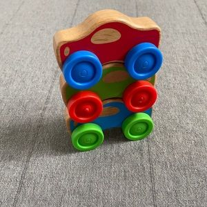Wooden Stacking Cars
